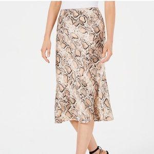 NWT Lucy Paris snake print midi slip skirt